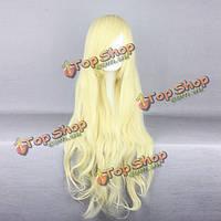 Парик блондинка длинные волосы легкая волна 80см