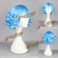 Голубой парик анимационного персонажа