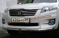 Защита переднего бампера труба одинарная D60 на  Toyota RAV 4 2000-2005