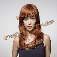 Парик женский натуральные волосы с длинной челкой