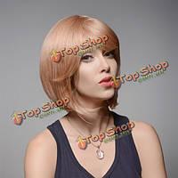 Парик блондинка короткие прямые натуральные волосы Боб 31см 8 цветов
