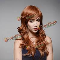 Коричневый парик натуральные волосы вьющиеся 60 см 8 цветов