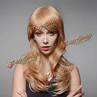 Натуральный парик длинные волосы с челкой 8 цветов