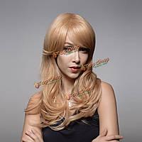 Парик длинные вьющиеся натуральные волосы 58см 8 цветов