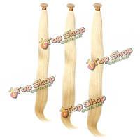 Натуральные волосы длинные блонд пучки 100шт
