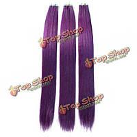 Волосы натуральные фиолетовые пряди для наращивания 50см