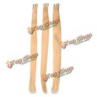Натуральные волосы для наращивания желтые пряди 50-60 см
