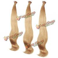 Волосы натуральные блонд медовый пучки для наращивания 100шт
