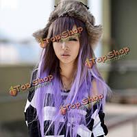 Парик светло-фиолетовый градиент
