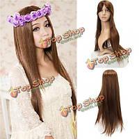 Искусственный парик длинные волосы 4 натуральных оттенка