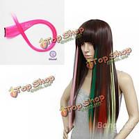 Прядь волос синтетическая розовая Nawomi