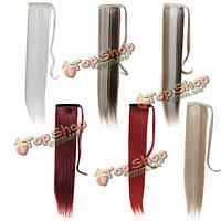 Накладной конский хвост искусственные прямые волосы