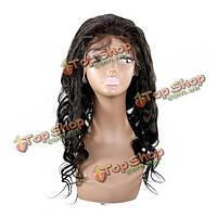 Парик женский натуральный волнистые длинные волосы