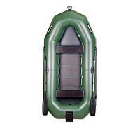 Трехместная гребная надувная лодка Bark (Барк) В-300ND (с навесным транцем)