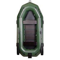 Трехместная гребная надувная лодка Bark (Барк) В-300NРD (с навесным транцем)