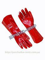 Перчатки рабочие МБС красные длинные 35 см