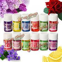 12шт цветок необходимый набор масла спа ароматерапия чисто терапевтическое растение головная боль облегчение домой