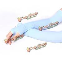 Унисекс лед прохладный шелк солнцезащитный крем над рукавами Арм-грелок длинные перчатки рука защита от ультрафиолетовых лучей рукав