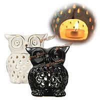 Керамическая сова аромалампы аромат ароматерапия Tealight свеча кипящий гранулу