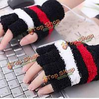 USB осень зима электрическая грелка руки отопления нагревается плюшевые перчатки