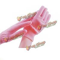 1 пара розовые спа гель увлажняющий отбеливания кожи рук перчатки