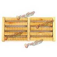 5rows деревянный валик ноги массажер рельефными стресс здоровье терапии Rlax массаж деревянных ремесел