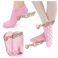 1 пара розовые спа гель увлажняющий для ног носки для отбеливания кожи