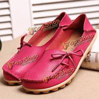 Мы размер 5-13 новых женщин мягкие удобные шнурках плоские мокасины дышащие вскользь кожаные ботинки квартиры