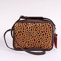 Коричневая маленькая сумочка мини женская №1370bn3