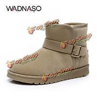 Wadnaso женщин зимние новые короткие Полусапоги держать теплой скольжения плюшевые хлопок снега сапоги обувь