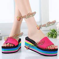 Шлепанцы пляжные сандалии на платформе
