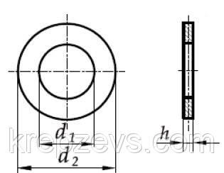 Шайба м4 DIN 125 - чертеж