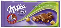 Шоколад Milka цільний лісой горіх 345г