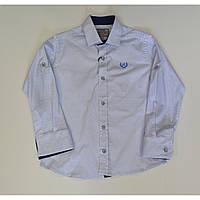 Рубашка приталенная белая 116-140 A-yugi