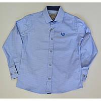 Рубашка для мальчиков приталенная,стильная 116-140