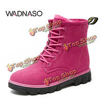 Wadnaso ботинки снежка женщин новый зимний сохранить теплые плюшевые лодыжки короткие сапоги замшевые сапоги MARTIN