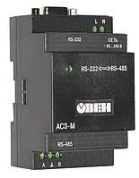 Преобразователь интерфейсов RS-232/RS-485 ОВЕН АС3-М