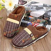 Новые люди дом обуви держать теплой закрытый хлопок плюша комфортно скольжения на тапочки обувь