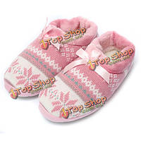 Женщины мягкие крытый открытый тапочки обувь милый щенок Снежинка сердце