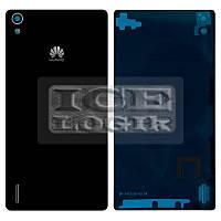 Задняя панель корпуса для мобильного телефона Huawei Ascend P7, черная