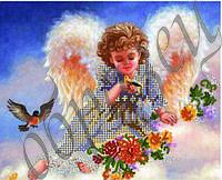 Схема для вышивки бисером Ангелок и птички КМР 4076