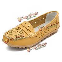 Женщины шикарные ботинки цветка выдалбливают мокасины мягкой подошве из кожи квартир
