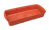 Поддон для рассады малый цветной полиэтиленовый (37х16х6 см). Лоток для рассады