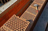 Кладка стен из блоков Паротерм (POROTHERM)