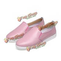 Женщины шикарный случайные плоские туфли чистого цвета скольжения по водительским мокасины