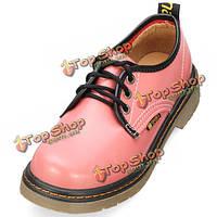 Студенты колледжа ветер ретро шнуровке платформы женская обувь Англии