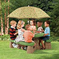 Детский столик с зонтом Step2 7877