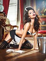 Эротический игровой костюм горничной 3-piece Black housemaids uniform, S/M