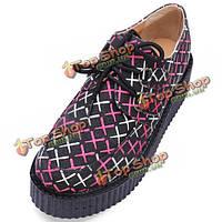 Толстые каблуки круглый мыс женщина повседневные туфли на платформе