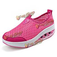 Женская обувь сетка дышащая обувь удобная встряхнул на открытом воздухе случайные спортивную обувь